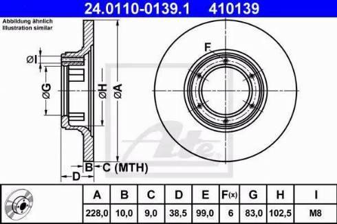 ATE 24.0110-0139.1 - Bremžu diski autodraugiem.lv
