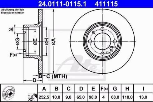 ATE 24.0111-0115.1 - Bremžu diski autodraugiem.lv