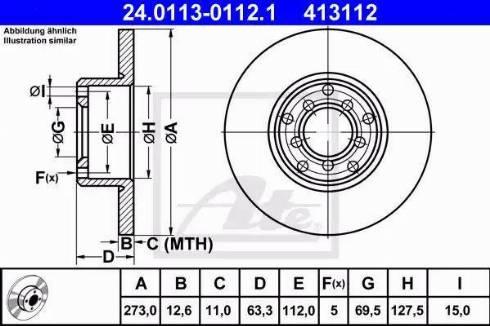 ATE 24.0113-0112.1 - Bremžu diski autodraugiem.lv