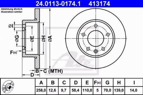ATE 24.0113-0174.1 - Bremžu diski autodraugiem.lv