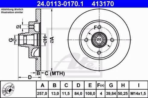 ATE 24.0113-0170.1 - Bremžu diski autodraugiem.lv