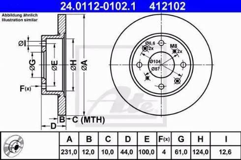 ATE 24.0112-0102.1 - Bremžu diski autodraugiem.lv