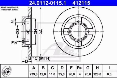 ATE 24.0112-0115.1 - Bremžu diski autodraugiem.lv