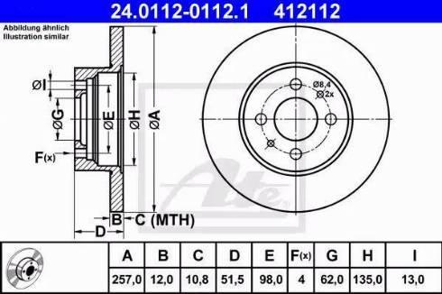 ATE 24.0112-0112.1 - Bremžu diski autodraugiem.lv