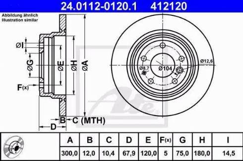ATE 24.0112-0120.1 - Bremžu diski autodraugiem.lv