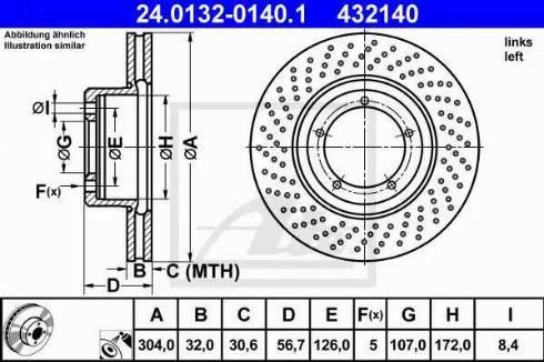 ATE 24.0132-0140.1 - Bremžu diski autodraugiem.lv