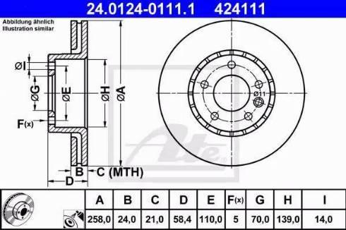 ATE 24.0124-0111.1 - Bremžu diski autodraugiem.lv
