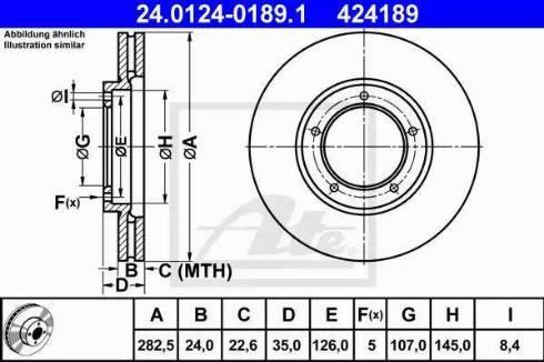 ATE 24.0124-0189.1 - Bremžu diski autodraugiem.lv