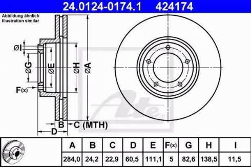 ATE 24.0124-0174.1 - Bremžu diski autodraugiem.lv