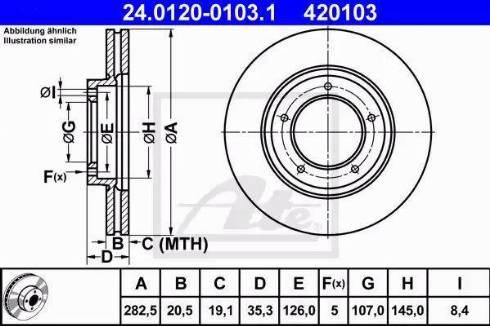 ATE 24.0120-0103.1 - Bremžu diski autodraugiem.lv