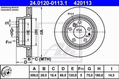 ATE 24.0120-0113.1 - Bremžu diski autodraugiem.lv