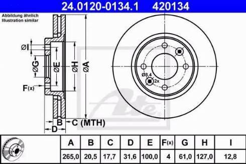 ATE 24.0120-0134.1 - Bremžu diski autodraugiem.lv