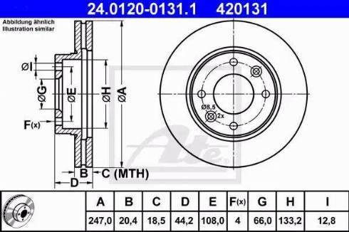 ATE 24.0120-0131.1 - Bremžu diski autodraugiem.lv