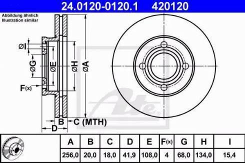 ATE 24.0120-0120.1 - Bremžu diski autodraugiem.lv