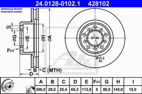 ATE 24.0128-0102.1 - Bremžu diski autodraugiem.lv