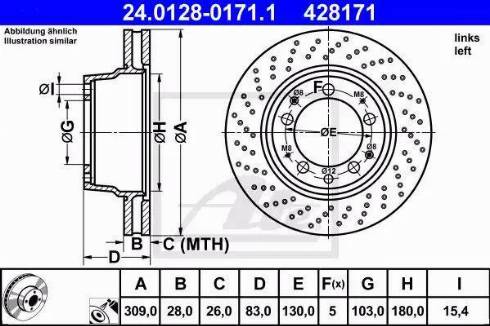 ATE 24.0128-0171.1 - Bremžu diski autodraugiem.lv