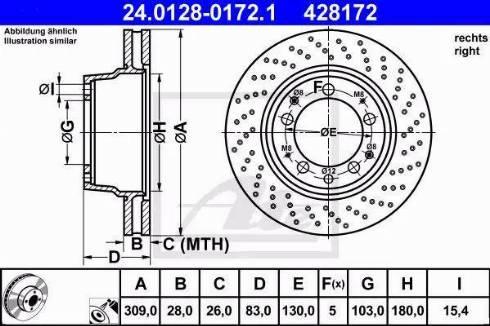 ATE 24.0128-0172.1 - Bremžu diski autodraugiem.lv