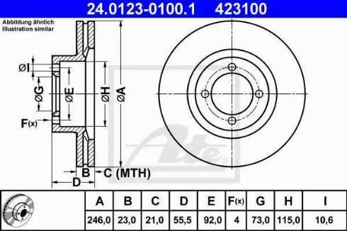 ATE 24.0123-0100.1 - Bremžu diski autodraugiem.lv