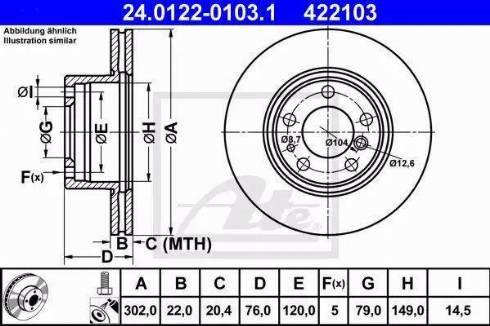 ATE 24.0122-0103.1 - Bremžu diski autodraugiem.lv