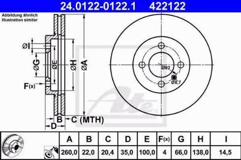 ATE 24.0122-0122.1 - Bremžu diski autodraugiem.lv