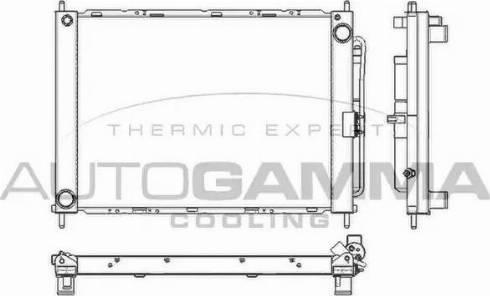 Autogamma 104017B - Radiators, Motora dzesēšanas sistēma autodraugiem.lv