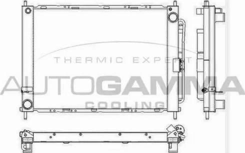 Autogamma 105902 - Radiators, Motora dzesēšanas sistēma autodraugiem.lv