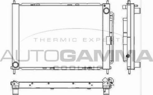 Autogamma 105812 - Radiators, Motora dzesēšanas sistēma autodraugiem.lv