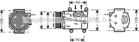 Ava Quality Cooling FDAK105 - Kompresors, Gaisa kond. sistēma autodraugiem.lv