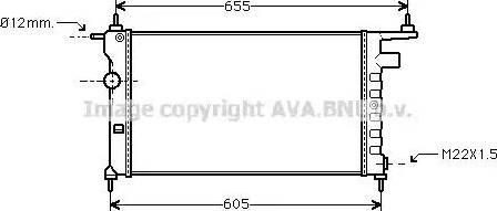 Ava Quality Cooling OLA2183 - Radiators, Motora dzesēšanas sistēma autodraugiem.lv