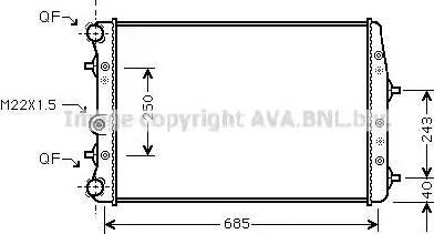 Ava Quality Cooling SAA2010 - Radiators, Motora dzesēšanas sistēma autodraugiem.lv