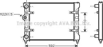 Ava Quality Cooling ST2023 - Radiators, Motora dzesēšanas sistēma autodraugiem.lv