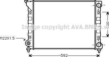 Ava Quality Cooling VN2071 - Radiators, Motora dzesēšanas sistēma autodraugiem.lv