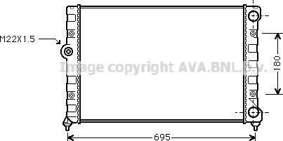 Ava Quality Cooling VN2109 - Radiators, Motora dzesēšanas sistēma autodraugiem.lv
