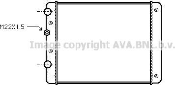 Ava Quality Cooling VN2129 - Radiators, Motora dzesēšanas sistēma autodraugiem.lv