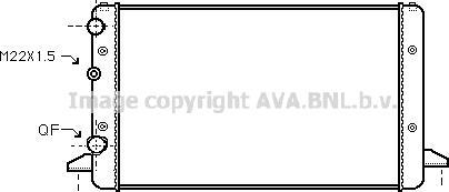 Ava Quality Cooling VNA2121 - Radiators, Motora dzesēšanas sistēma autodraugiem.lv