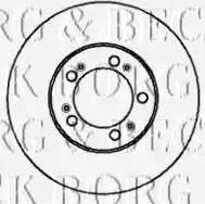 Borg & Beck BBD4911 - Bremžu diski autodraugiem.lv