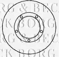 Borg & Beck BBD5850S - Bremžu diski autodraugiem.lv