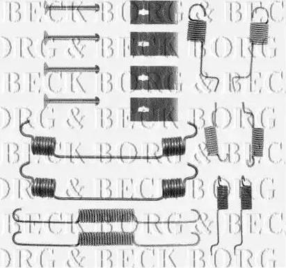 Borg & Beck BBK6054 - Piederumu komplekts, Stāvbremzes mehānisma bremžu loks autodraugiem.lv