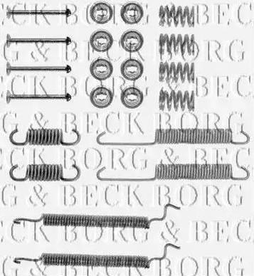 Borg & Beck BBK6058 - Piederumu komplekts, Stāvbremzes mehānisma bremžu loks autodraugiem.lv