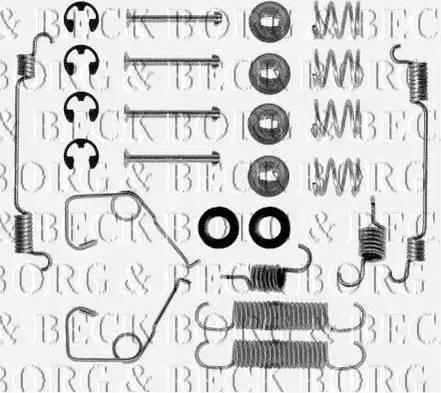 Borg & Beck BBK6037 - Piederumu komplekts, Stāvbremzes mehānisma bremžu loks autodraugiem.lv