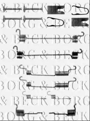 Borg & Beck BBK6153 - Piederumu komplekts, Stāvbremzes mehānisma bremžu loks autodraugiem.lv