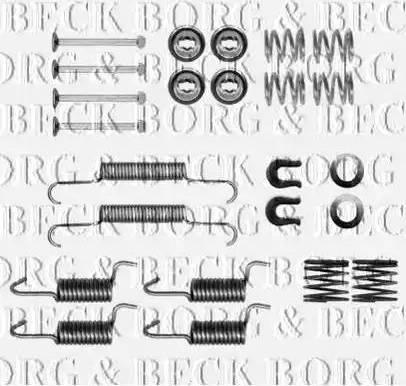 Borg & Beck BBK6305 - Piederumu komplekts, Stāvbremzes mehānisma bremžu loks autodraugiem.lv