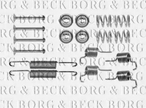 Borg & Beck BBK6306 - Piederumu komplekts, Stāvbremzes mehānisma bremžu loks autodraugiem.lv