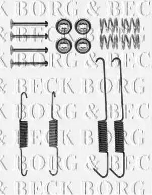 Borg & Beck BBK6301 - Piederumu komplekts, Stāvbremzes mehānisma bremžu loks autodraugiem.lv