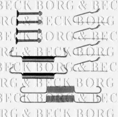 Borg & Beck BBK6315 - Piederumu komplekts, Stāvbremzes mehānisma bremžu loks autodraugiem.lv