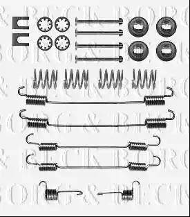Borg & Beck BBK6327 - Piederumu komplekts, Stāvbremzes mehānisma bremžu loks autodraugiem.lv