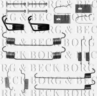 Borg & Beck BBK6263 - Piederumu komplekts, Stāvbremzes mehānisma bremžu loks autodraugiem.lv