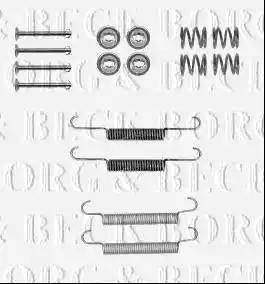 Borg & Beck BBK6206 - Piederumu komplekts, Stāvbremzes mehānisma bremžu loks autodraugiem.lv