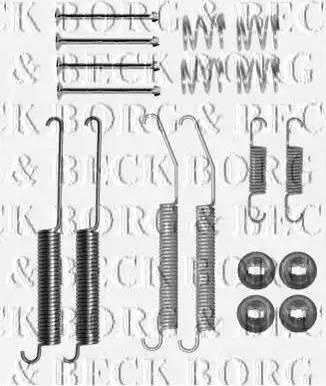Borg & Beck BBK6231 - Piederumu komplekts, Stāvbremzes mehānisma bremžu loks autodraugiem.lv