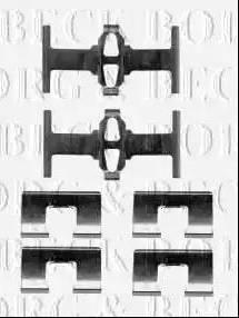 Borg & Beck BBK1400 - Piederumu komplekts, Disku bremžu uzlikas autodraugiem.lv